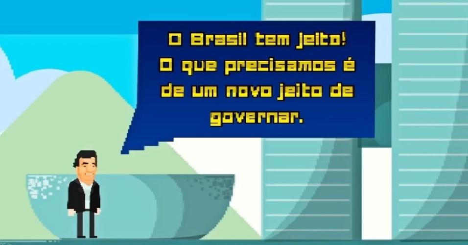 Agora, Super Aécio Bros chega à fase mais difícil, em Brasília, onde destaca que nem tudo está perdido, basta mudar o jeito de governar