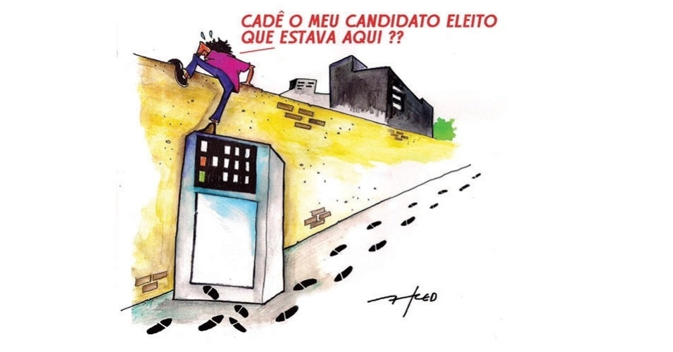 10.out.2014 - O chargista Fred ironiza os resultados do 1º turno das eleições