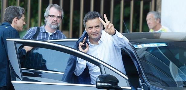 Aécio Neves (PSDB) no Rio de Janeiro, onde ficou nesta sexta para a gravação de seu programa eleitoral