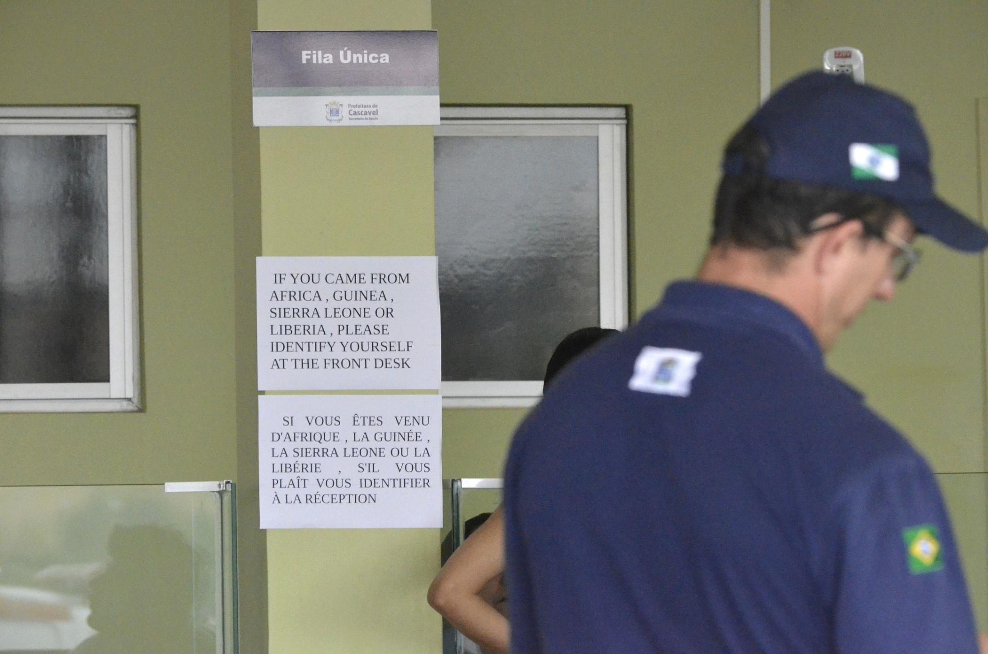 11.out.2014 - Unidade de Pronto Atendimento de Cascavel tem alertas para pacientes que vêm de áreas de risco para o ebola