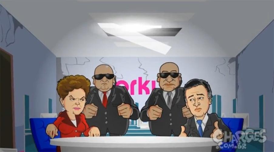 13.out.2014 - O chargista Maurício Ricardo brinca com uma possível trégua entre os candidatos presidenciáveis Dilma Rousseff (PT) e Aécio Neves (PSDB). Assista a charge completa clicando aqui