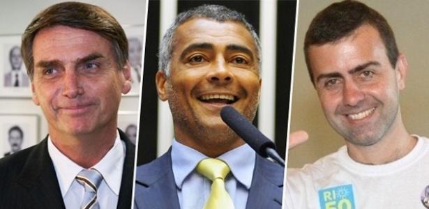 Jair Bolsonaro, Romário e Freixo se dividiram entre o apoio a Pezão e a neutralidade