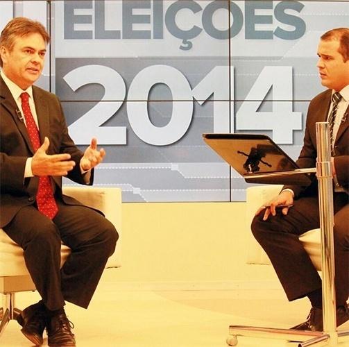 13.out.2014 - O candidato Cássio Cunha Lima (PSDB) concedeu entrevista ao site de notícias da Rede Globo, o G1, e declarou que, se eleito, fará uma