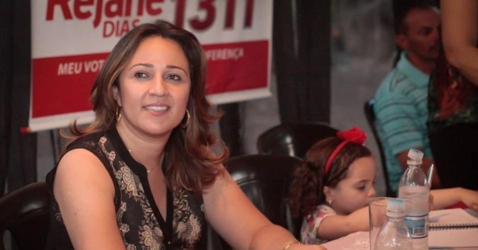 14.out.2014 - Rejane Dias, 42, foi eleita deputada federal pelo Piauí com a maior votação entre as mulheres que concorriam ao cargo, com 134.157 votos. Formada em Administração de Empresas,  é casada com o ex-governador do Estado Wellington Dias e, em 2010, foi eleita deputada estadual