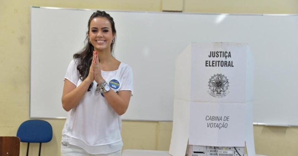 14.out.2014 - Shéridan de Anchieta, 30, do PSDB, foi a deputada federal mais votada de Roraima com 35.555 votos. Ela é mulher do ex-governador do Estado José de Anchieta e ex-secretária da Promoção Humana e Desenvolvimento