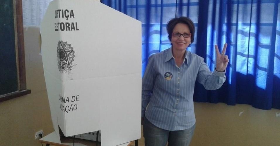 14.out.2014 - Tereza Cristina, 62, do PSB, foi eleita deputada federal pelo Mato Grosso do Sul com a maior votação entre as concorrrentes, com 75.149 votos. Ela é engenheira agrônoma, empresária e ex-secretária de Desenvolvimento do Estado