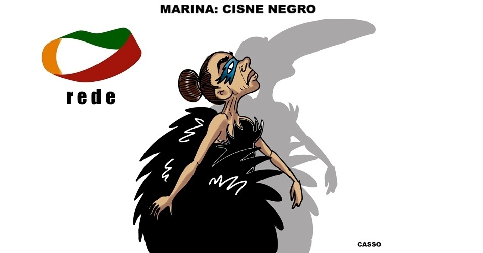 16.out.2014 - O chargista Casso ironiza o apoio da candidata derrotada Marina Silva (PSB) ao candidato presidenciável Aécio Neves (PSDB)