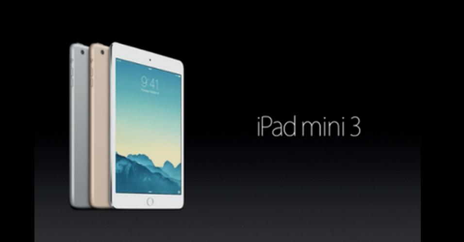 Apple apresentou também uma versão menor de seu tablet, o iPad Mini 3