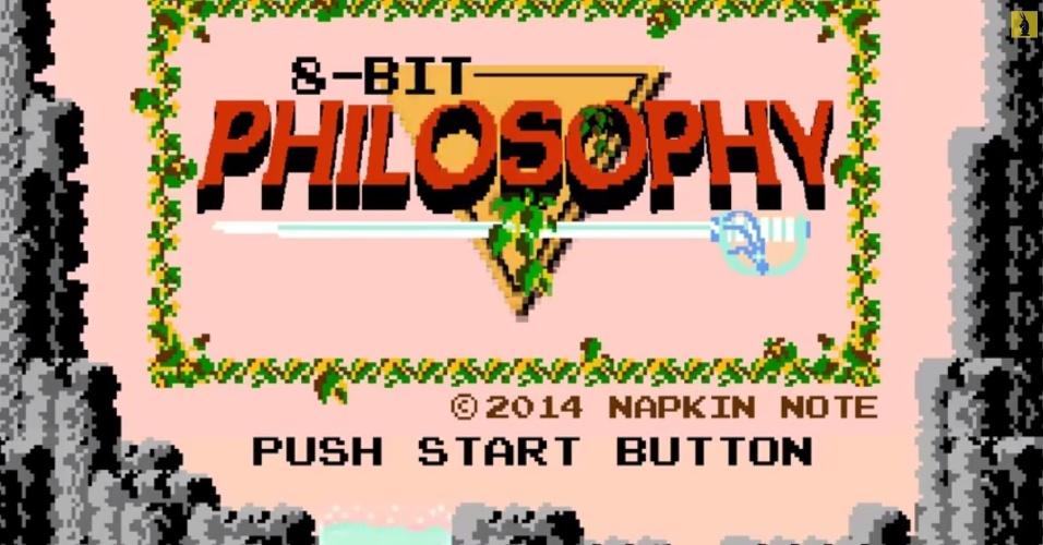"""As animações da série 8-Bit Philosophy, disponíveis no YouTube, usam games clássicos para ensinar filosofia. O primeiro episódio usa gráficos de """"The Legend of Zelda"""" para explicar a alegoria da caverna, de Platão"""