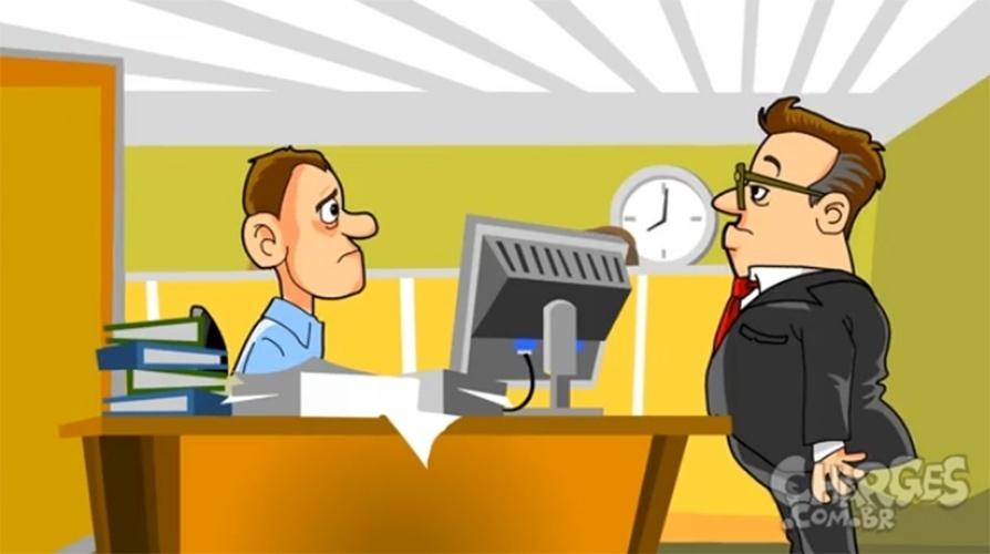 17.out.2014 - O chargista Maurício Ricardo brinca com as desculpa esfarrapadas que os empregados dão quando faltam ao trabalho. Assista a charge completa clicando aqui
