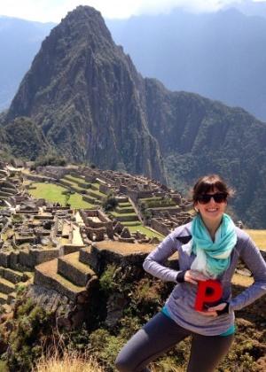 A gerente de projetos Anna Watt gastou seus US$ 1.500 em Machu Picchu, no Peru - Divulgação
