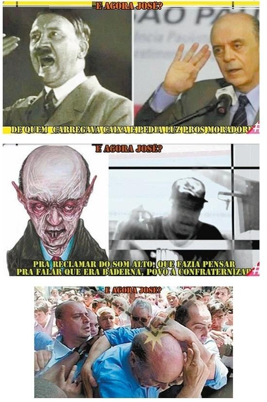 Nas eleições de 2012, um vídeo reproduzido no site de Fernando Haddad (PT), candidato à Prefeitura de São Paulo, mostrava José Serra (PSDB) retratado com Hitler e vampiro