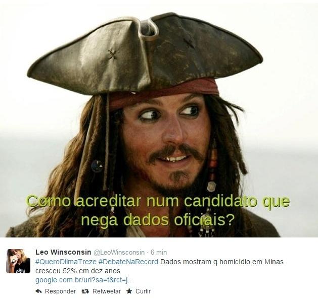 20.out.2014 - Enquanto é realizado o debate entre presidenciáveis, as redes sociais exploram o bom humor para criar memes e piadas