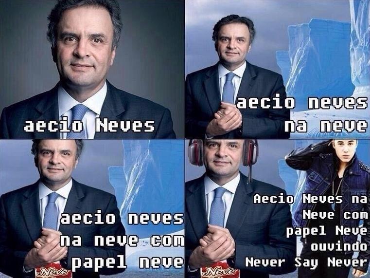 20.out.2014 - Internauta faz piada com o sobrenome do candidato à Presidência da República Aécio Neves (PSDB) em postagem do Twitter