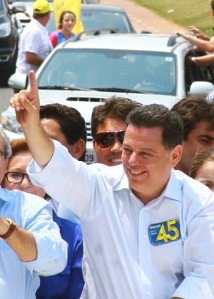 O governador de Goiás, Marconi Perillo (PSDB), durante a campanha eleitoral de 2014