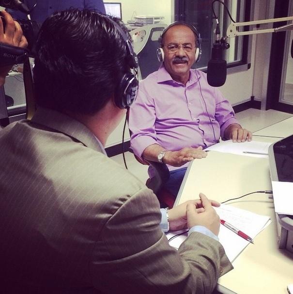 21.out.2014 - Chico Rodrigues, candidato pelo PSB ao governo de Roraima, participou nesta segunda-feira (20) de uma entrevista para a rádio 93 FM. No primeiro turno, a candidata Suely Campos (PP) foi a mais votada com 41,48% dos votos contra 37,62% de Chico Rodrigues (PSB)