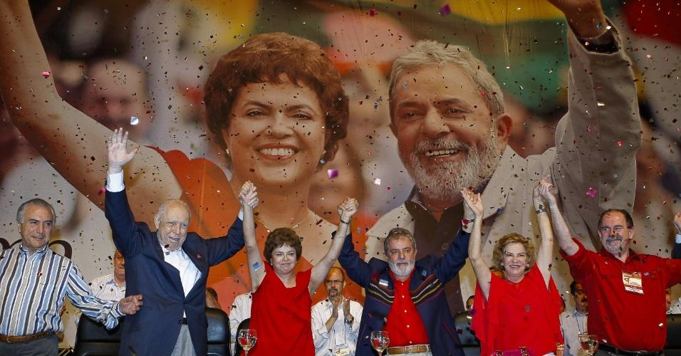 Filiados e delegações do Partido dos Trabalhadores de todo país confirmaram no dia 20 de fevereiro de 2010 a indicação de Dilma como pré-candidata única do PT ao Planalto nas eleições deste ano. O referendo aconteceu no terceiro dia do 4º Congresso do Partido dos Trabalhadores, em Brasília
