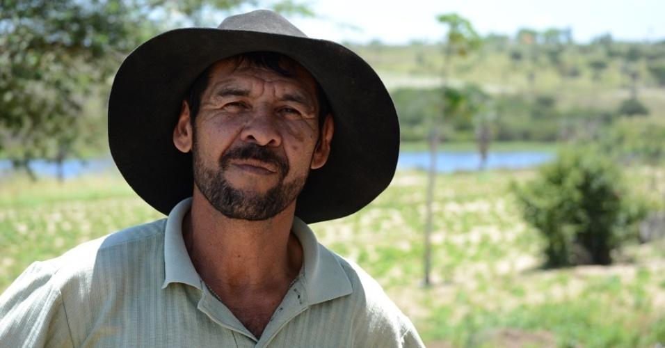 """21.out.2014 - José Venâncio, 56, agricultor, afirma que, se Aécio ganhar, """"não vai fazer nada que preste?. Ele é morador de Caetés (PE), terra natal de Lula, que deu 84% dos votos válidos para Dilma Rousseff (PT) no primeiro turno"""