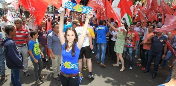 Grupo protesta durante discurso de Dilma e acaba expulso - Edson Silva /Folhapress
