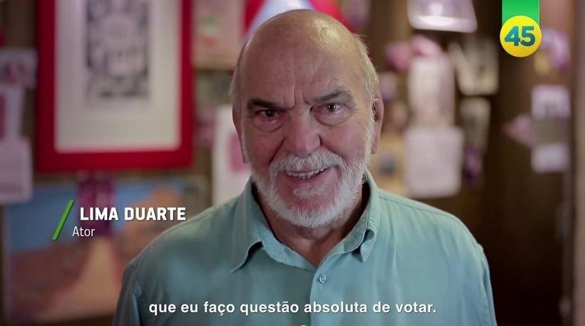 O ator Lima Duarte gravou vídeo para a campanha de Aécio Neves declarando seu apoio ao candidato do PSDB à presidência