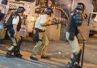 Manifestação termina em tumulto com pedras e bombas na Central do Brasil - Antonio Scorza/Agencia O Globo