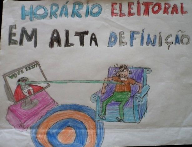 Santa Mônica; eleições 2014; charge