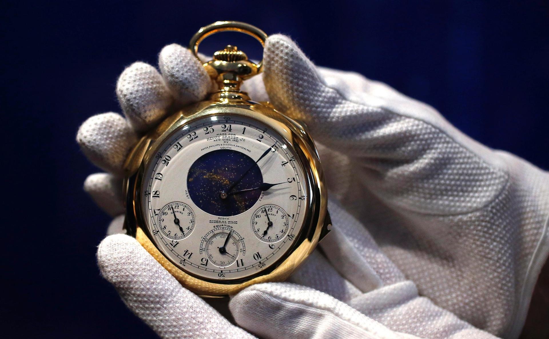 aa64d7edaf2 Fotos  Relógio de bolso de ouro bate recorde ao ser leiloado por R ...