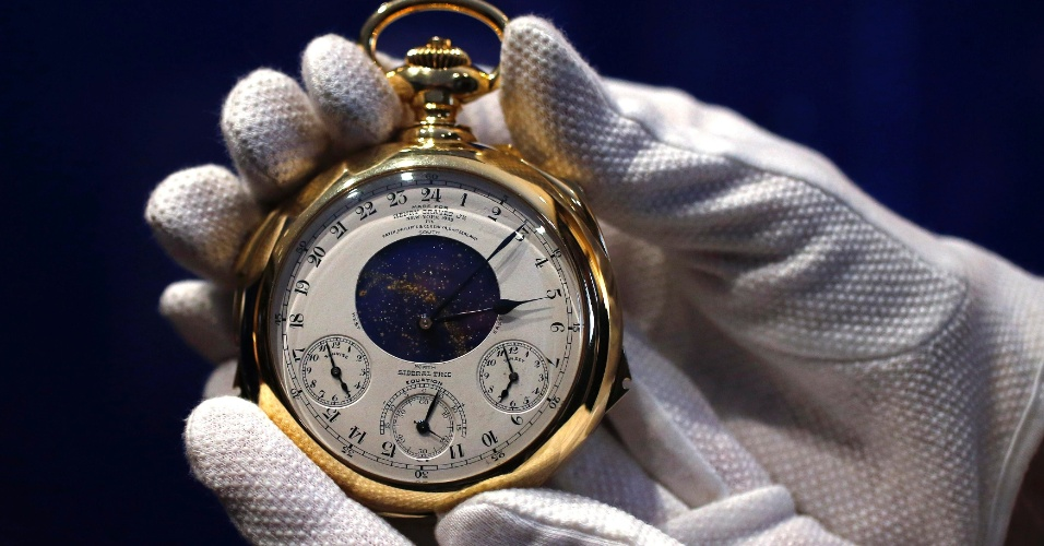 c7f023b0d38 Fotos  Relógio de bolso de ouro bate recorde ao ser leiloado por R ...