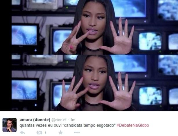 24.out.2014 - Internauta faz piada antes do último debate antes do segundo turno das eleições presidenciais, que acontecem no próximo domingo (26)