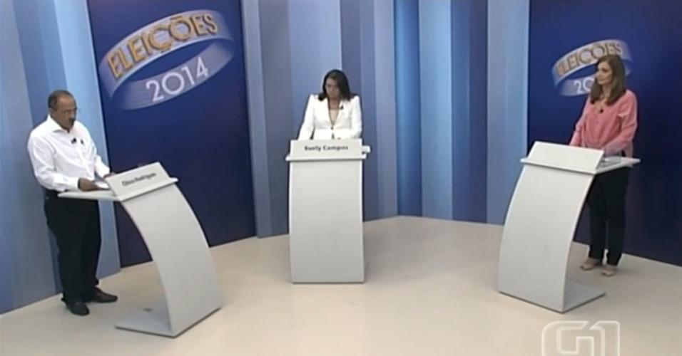 24.out.2014 - Os candidatos ao governo de Roraima, Chico Rodrigues (PSB) e Suely Campos (PP), participaram nessa quinta-feira (23) do último debate antes do segundo turno das eleições, promovido pela TV Roraima, afiliada da Rede Globo