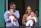 Aécio Neves posa com a mulher e filhos em MG - Zanone Fraissat/Folhapress