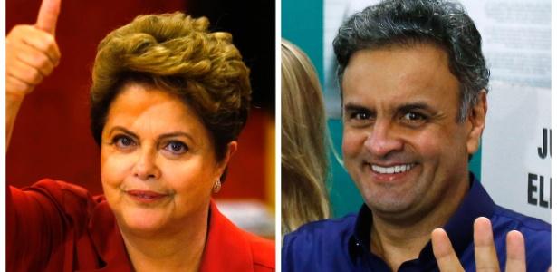 Combinação de imagens mostra os candidatos que disputaram a Presidência da República em 2014: Dilma Rousseff (PT) e Aécio Neves (PSDB)