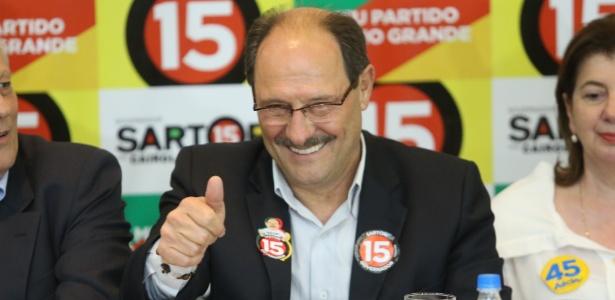 José Ivo Sartori, governador eleito do RS, faz pronunciamento em hotel, em Porto Alegre