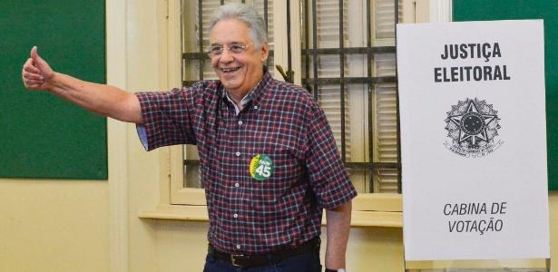 Ex-presidente Fernando Henrique Cardoso, nas eleições de outubro do ano passado