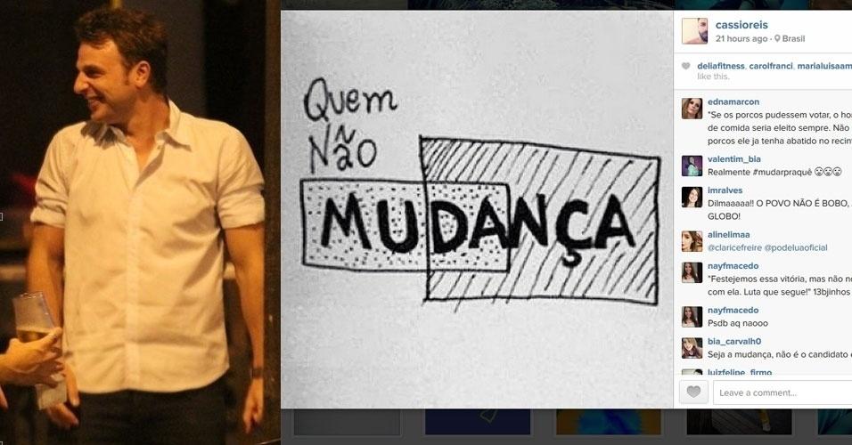 27.out.2014 - O ator Cássio Reis criticou a reeleição de Dilma Rousseff (PT) com um post no Instagram - rede social de compartilhamento de fotos