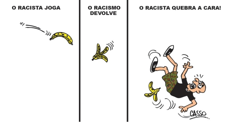 27.out.2014 - O chargista Casso ironiza sobre o trajeto do racismo