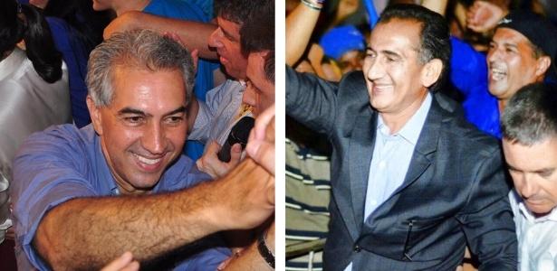 Reinaldo Azambuja (esq.), do PSDB-MS, declarou R$ 37,8 milhões em bens ao TSE; Waldez Góes (PDT-AP) informou ter R$ 15 mil