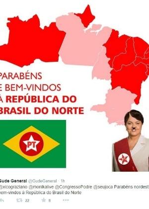 Usuário do Facebook ataca nordestinos para criticar vitória de Dilma Rousseff nas eleições presidenciais