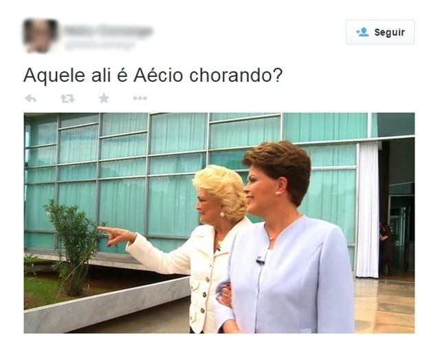 28.out.2014 - Internauta brinca com imagem da presidente reeleita Dilma Rousseff (PT) e da apresentadora Hebe Camargo (1929-2012)