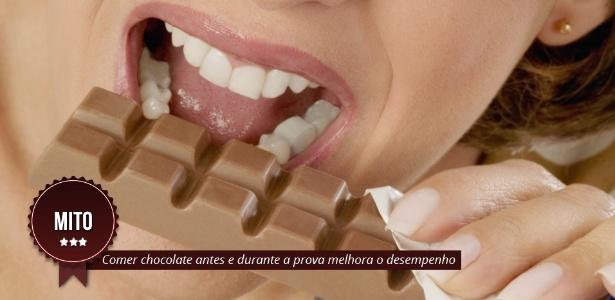 MITO: Comer chocolate antes e durante a prova melhora o desempenho - Arte/UOL
