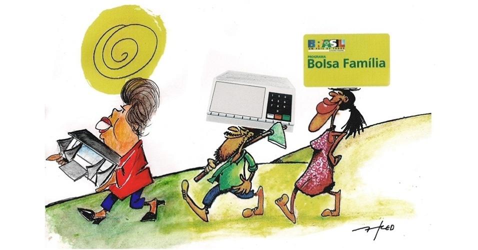 30.out.2014 - O chargista Fred brinca com o apoio da região Nordeste na eleição presidencial