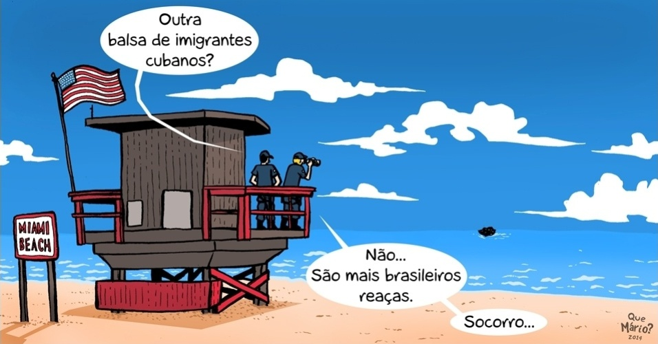 31.out.2014 - O chargista Que Mário? ironiza o fato de diversas pessoas terem dito que se mudariam do país após a reeleição da presidente Dilma Rousseff (PT)