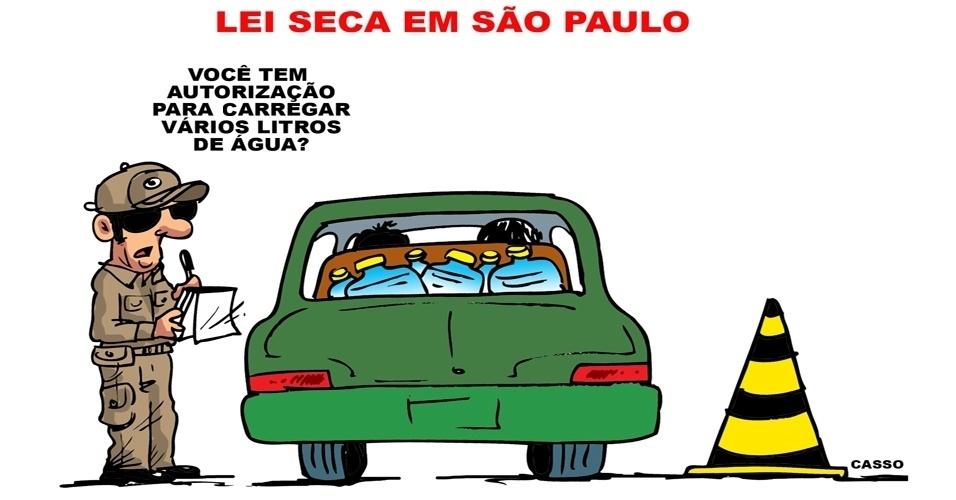4.nov.2014 - O chargista Casso critica a falta de água que atinge o Estado de São Paulo