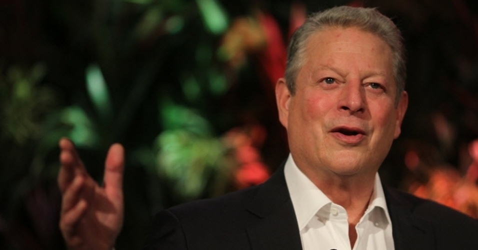 5.nov.2014 - Al Gore, presidente e fundador do Climate Reality Project, participa da cerimônia de abertura do evento, realizado nesta quarta-feira (5), no hotel Royal Tulip, no Rio de Janeiro. O evento tem como objetivo reunir líderes comprometidos com o combate ao aquecimento global