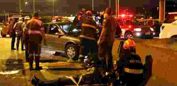 Acidente de trânsito em SP: 42% das pessoas que morreram em acidentes de trânsito na capital paulista tinham consumido bebidas alcoólicas horas antes  - Michelle Sprea/Sigmapress/Estadão Conteúdo