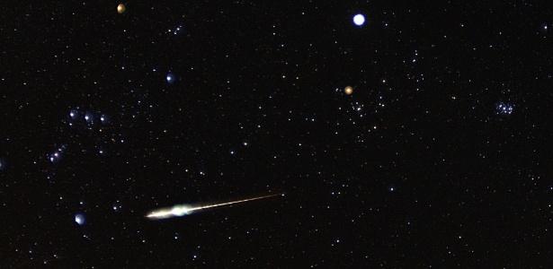Taurídeas não tem uma noite com grande pico como outras chuvas de meteoros