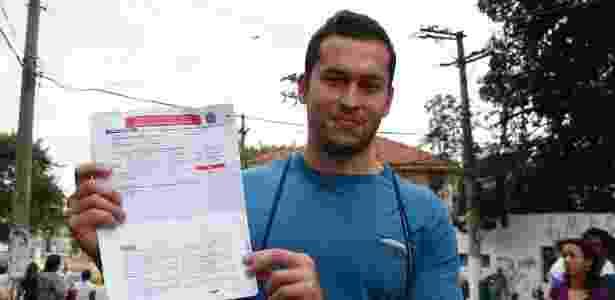 Marco Henrique Maciel de Oliveira, 26, esqueceu o RG e desistiu da prova - Junior Lago/UOL