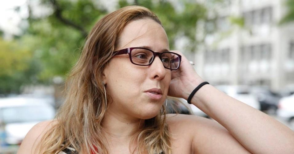 8.nov.2014 - No Rio de Janeiro, a contadora Barba Basto, 31, achou a prova do Enem 2014 difícil por estar longe dos estudos