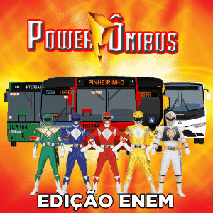 """A bem humorada página do Facebook da Prefeitura de Curitiba usa os personagens """"Power Rangers"""" para avisar sobre a operação especial nos transportes no final de semana do Enem - Reprodução/Facebook"""