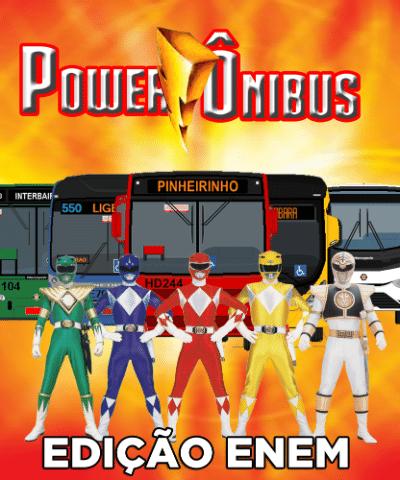 """A bem humorada página do Facebook da Prefeitura de Curitiba usa os personagens """"Power Rangers"""" para avisar sobre a operação especial nos transportes no final de semana do Enem"""